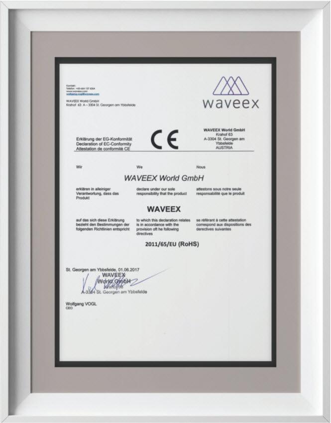 Chứng nhận CE của Waveex